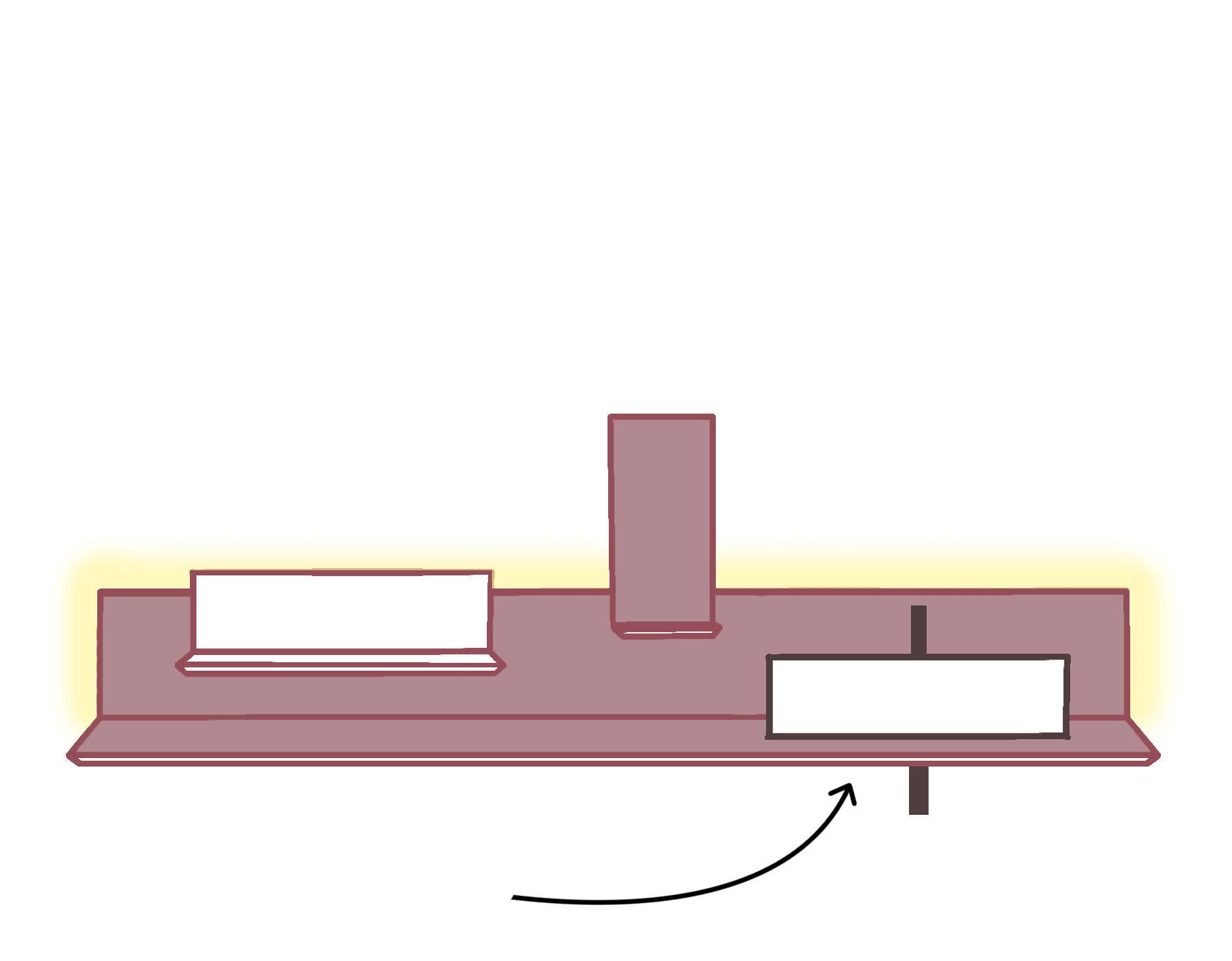 3. Da mensola a mobile bagno - Sulla mensola principale retroilluminata puoi posizionare il lavabo che preferisci, trasformandola così in un comodo piano di appoggio sospeso.