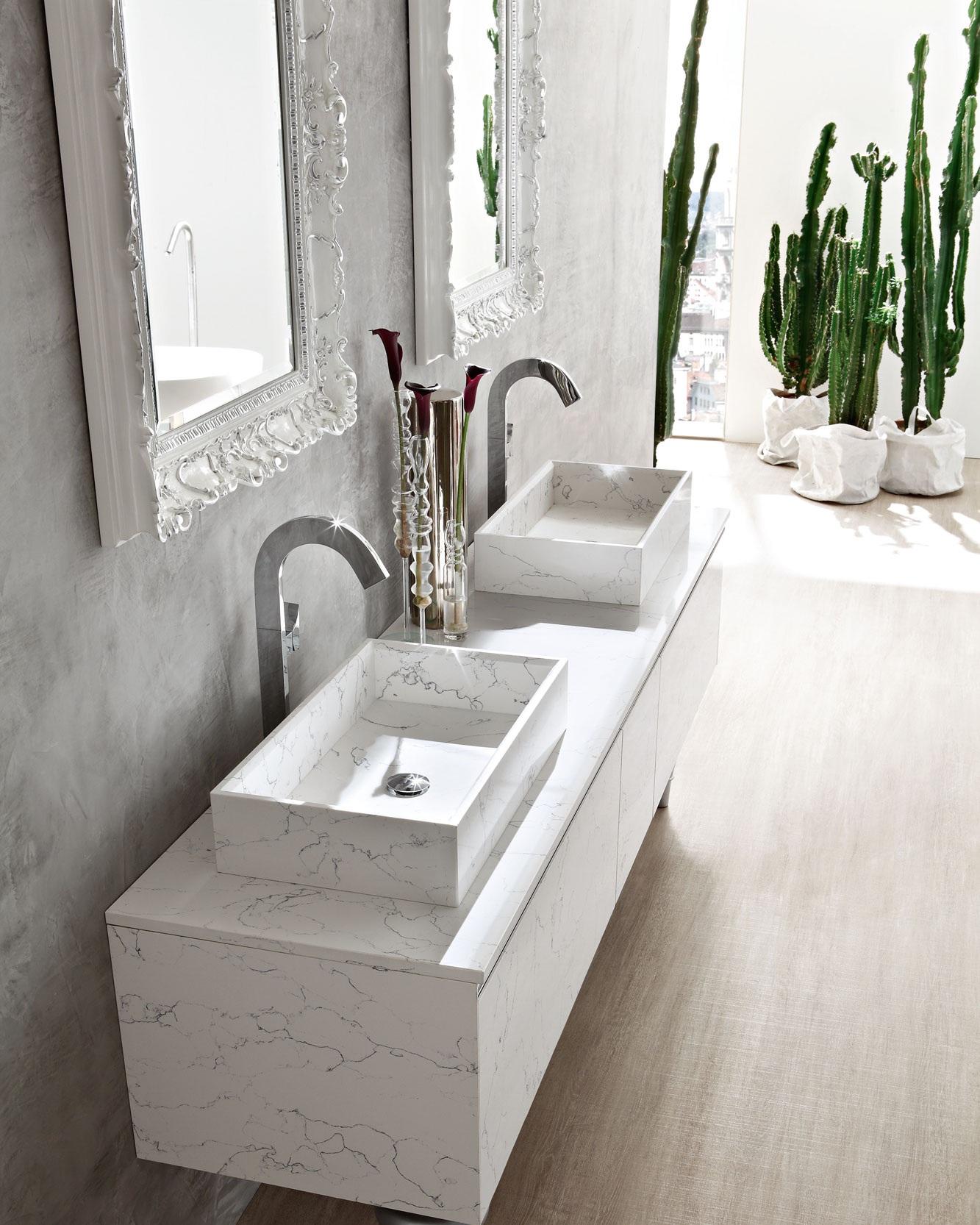 Marmo - La modernità del Marmo unisce le diverse finiture ad un elegante senso della materia.