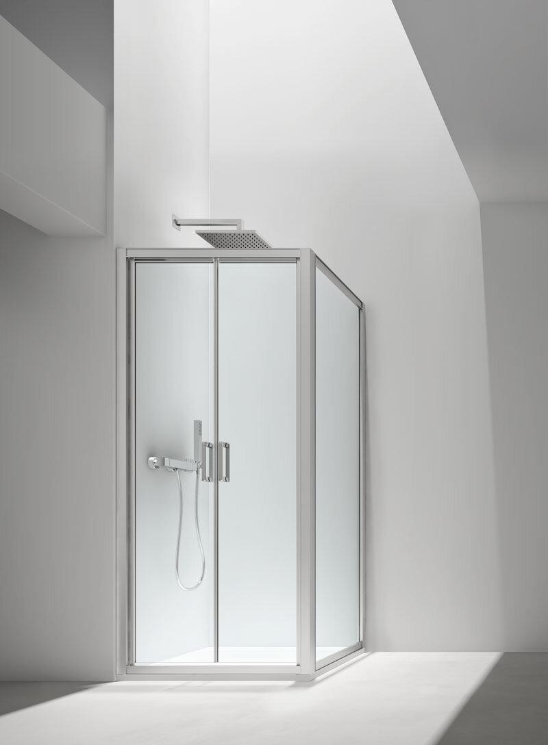 Porta saloon + lato fisso