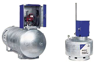 Mobile Tankanlage für Heizöl/Diesel