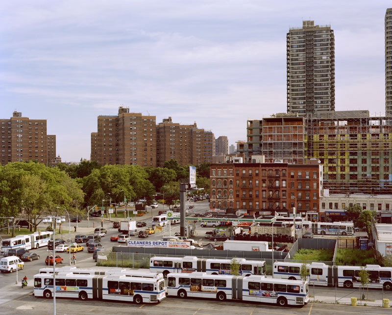 10.  View south 2nd Avenue with bus depot and public housing, 2009