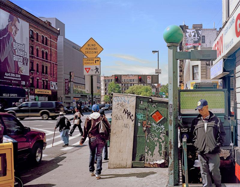 12.  The A Train subway entrance northwest corner Saint Nicholas Avenue, 2008