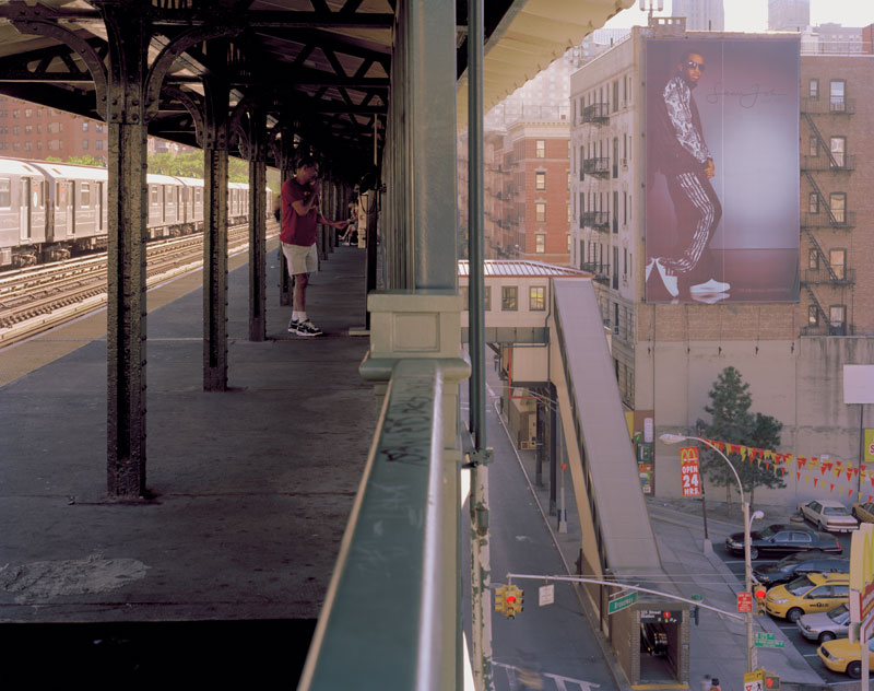 """17. """"P. Diddy"""" and Broadway south from elevated 1 Train"""