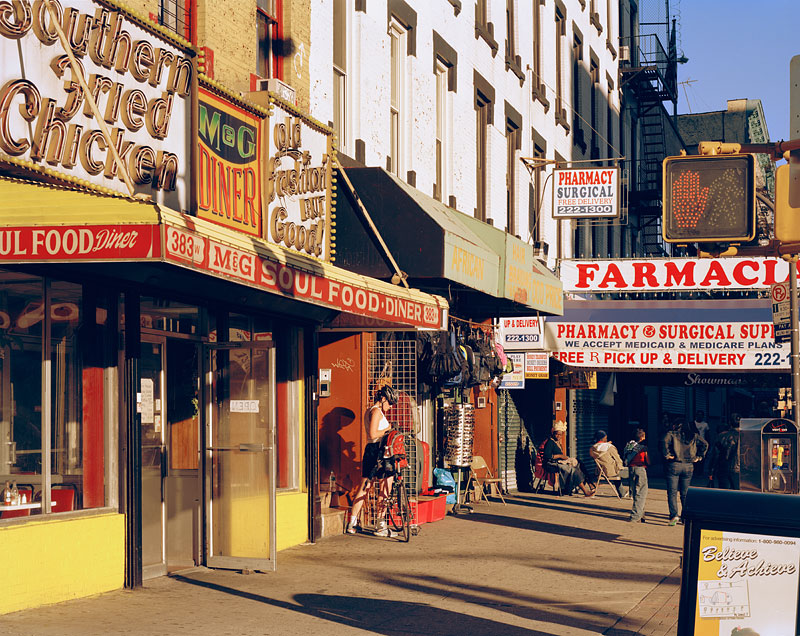 """18.   """"M&G Diner"""" and """"Farmacia"""" looking east, 2008"""