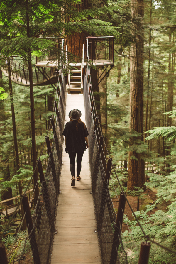 Suspension bridge park in Vancouver