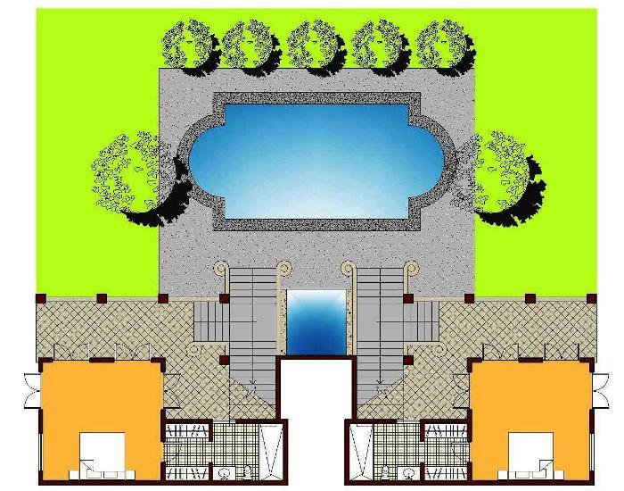 Lower Level Floorplan - Casa Guanacaste