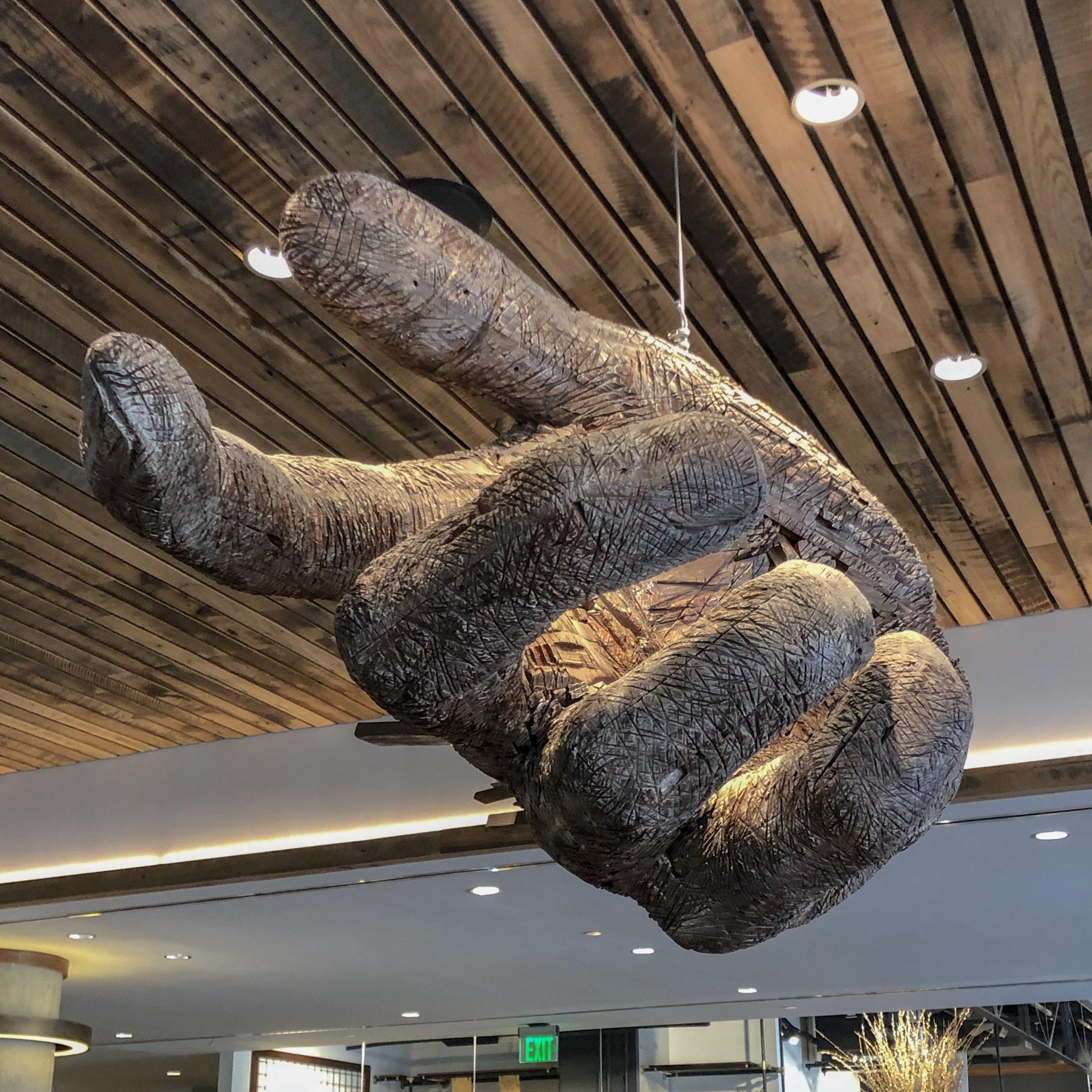 The Maven hand sculpture ©SBtheRD