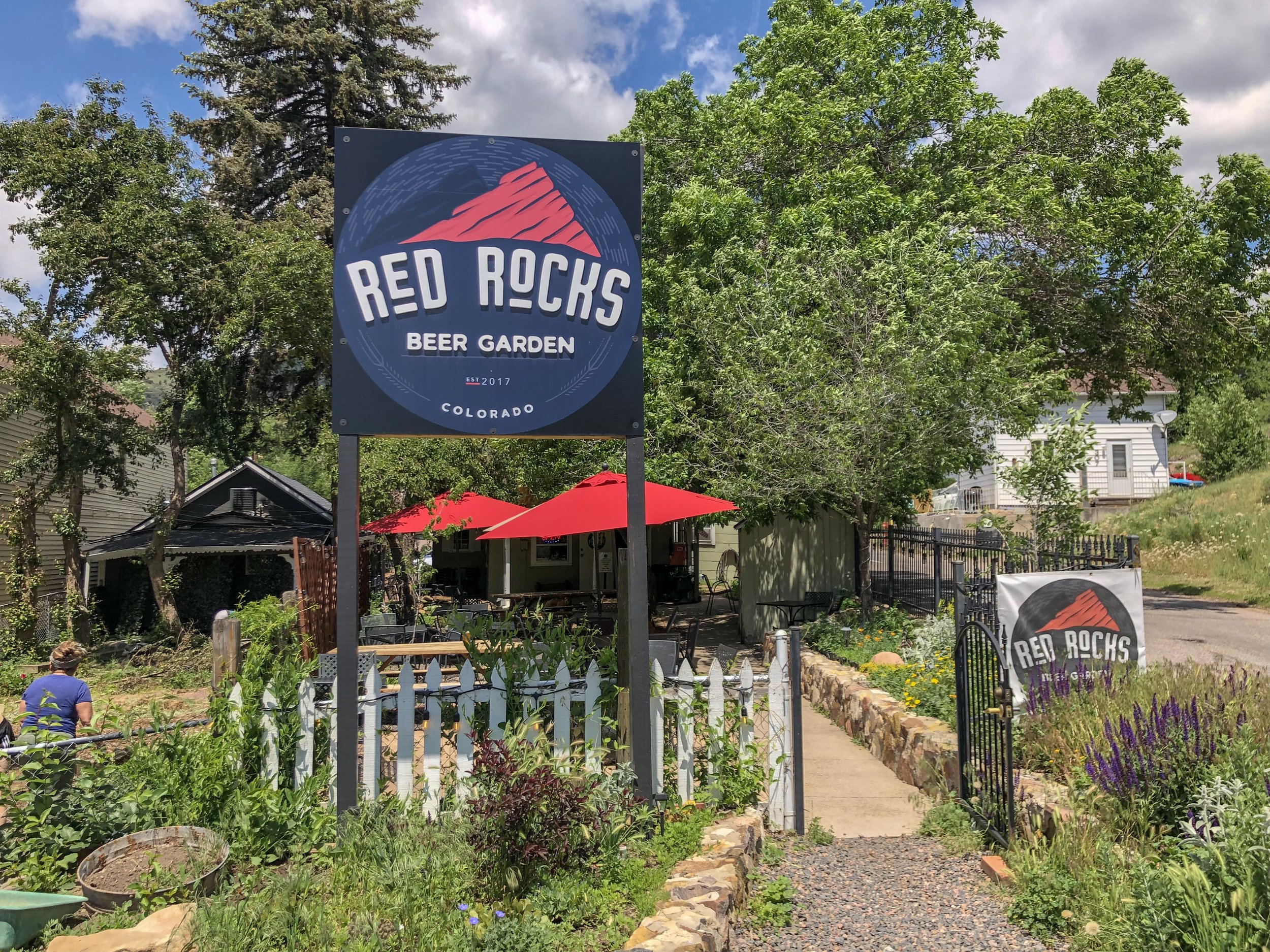 Red Rocks Beer Garden is just down the road from your Red Rocks concert or hike. ©Suzanne Brown 2019