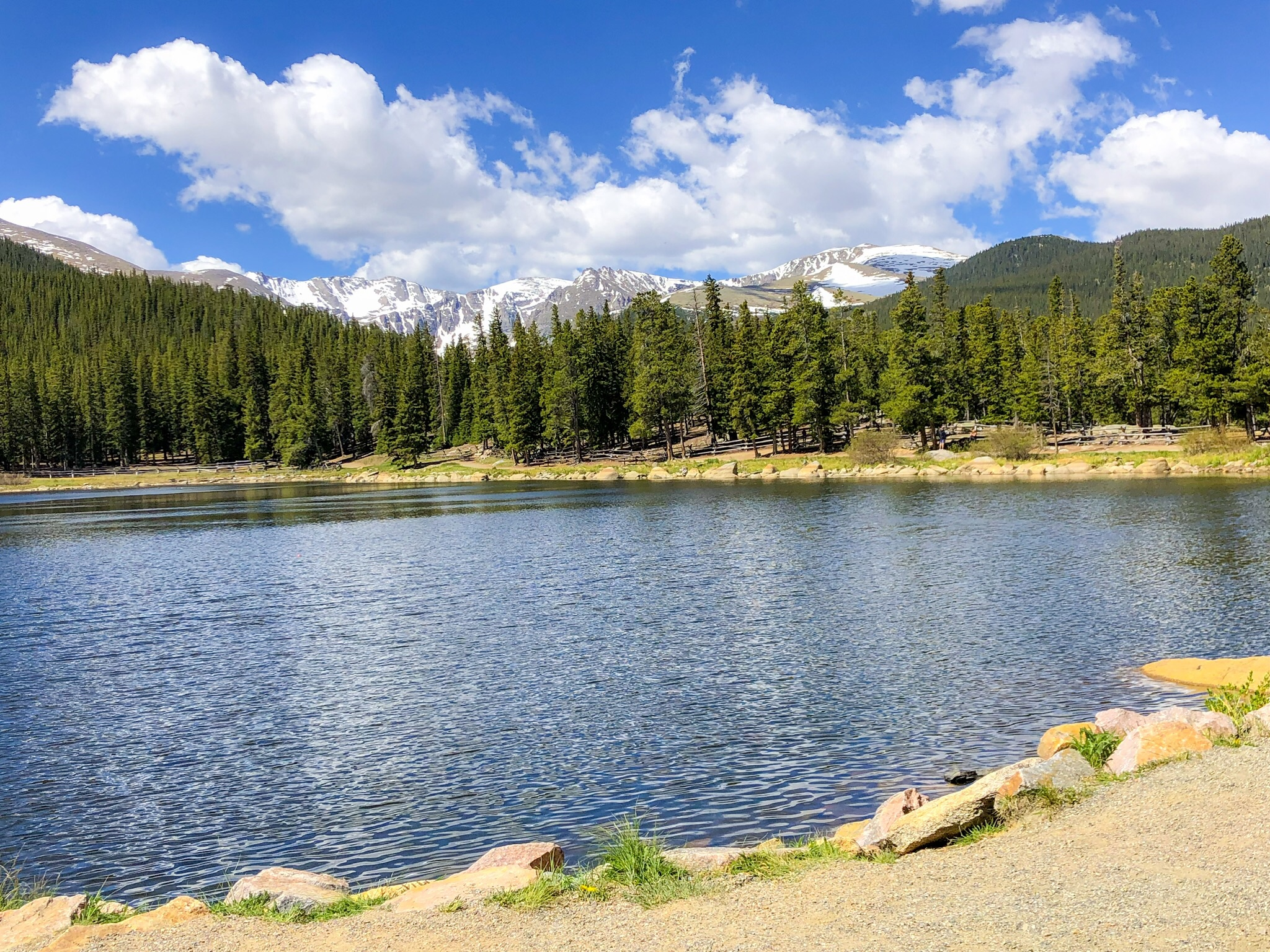 Stunning views at Echo Lake near Mount Evans. ©Suzanne Brown 2019