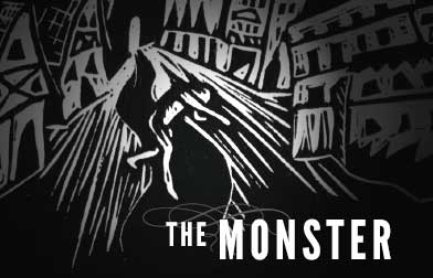 Duncan Neilson's  The MONSTER , a multimedia re-telling of  Frankenstein