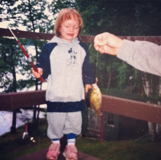 My first fish @ Lake Washburn. Outing, MN circa 1985.