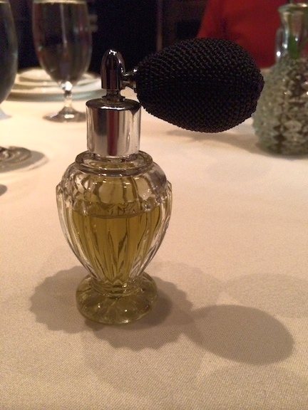 Absinthe in a perfume bottle.