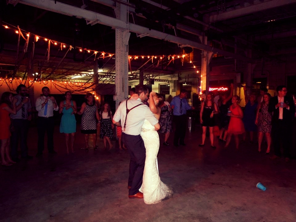 Sneak peek at our wedding. The last dance of the evening (Don't Stop Believing). Just the two of us and a blue Solo cup.