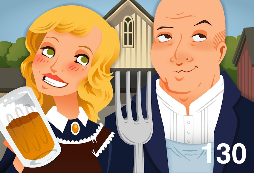 The Go Fork Yourself podcast art... It sorta looks like Andrew & I!