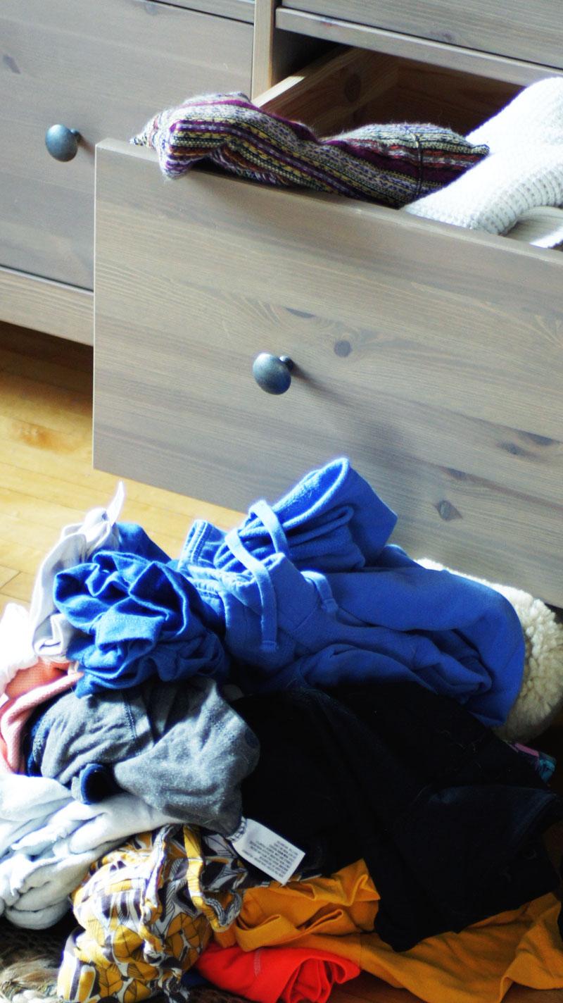 BEFORE: Emptying the dresser. Brutal.