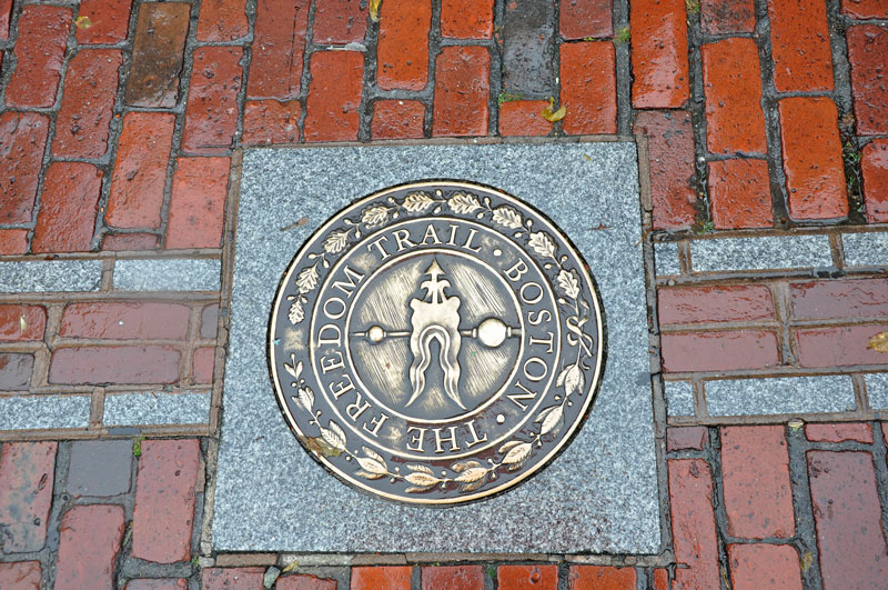 Follow the red brick road.  |  Freedom Trail - Boston