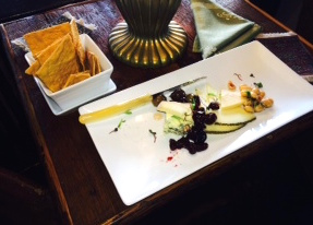 Gideon Ridge's cheese plate...yet another grace note at this lovely inn