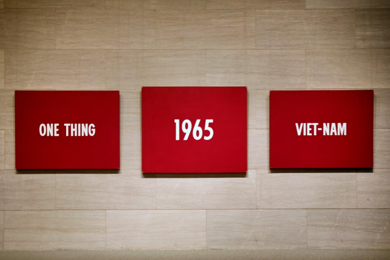 'One Thing', '1965', 'Viet-Nam'by On Kawara(Photo Credit: New York Times)