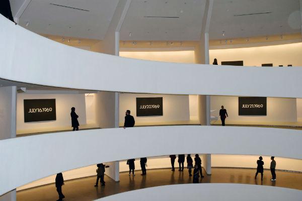 View of On Kawara--Silence at The Guggenheim Museum (Photo Credit: ArtNet)