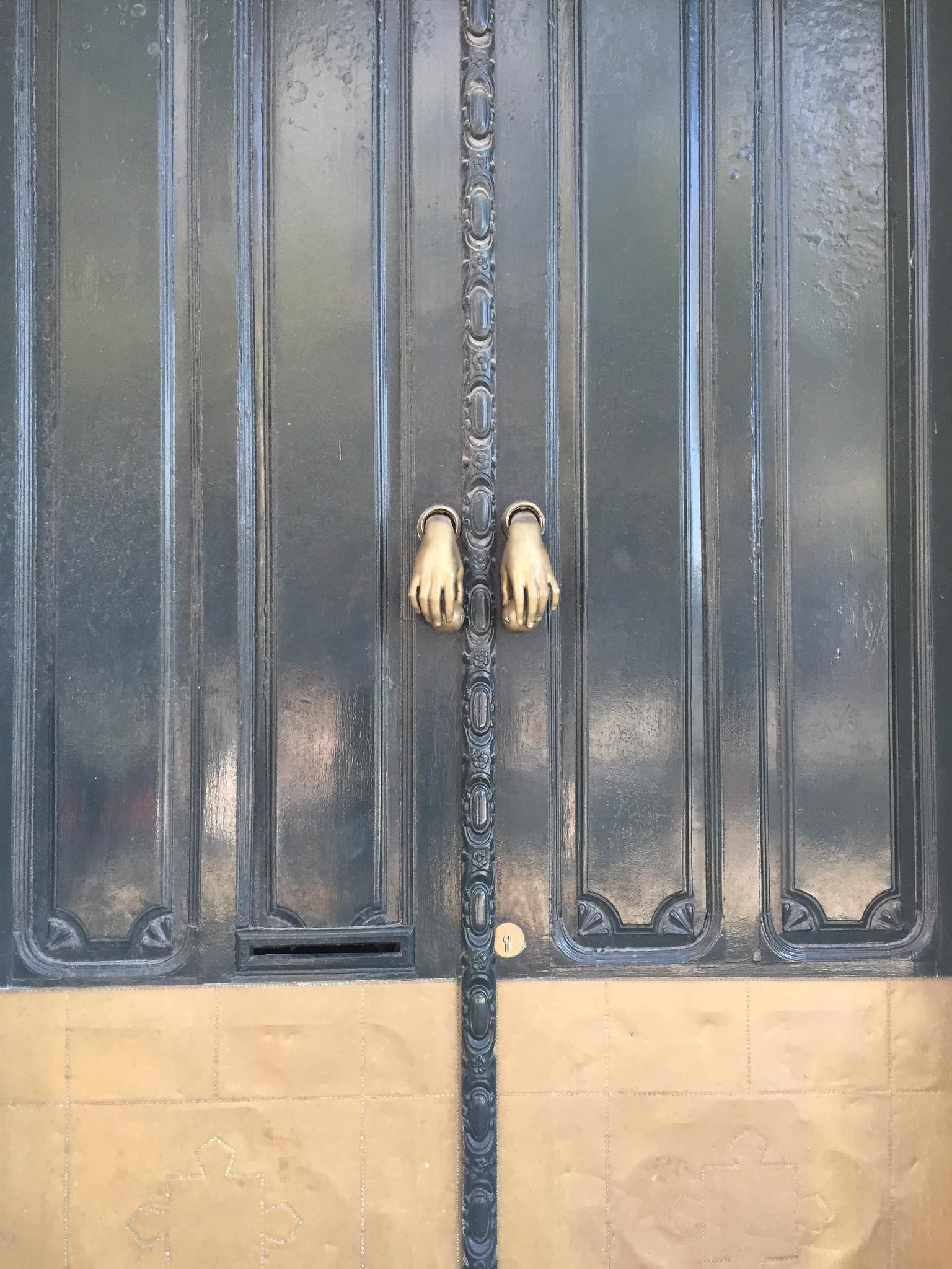 A beautiful door in a beautiful city.