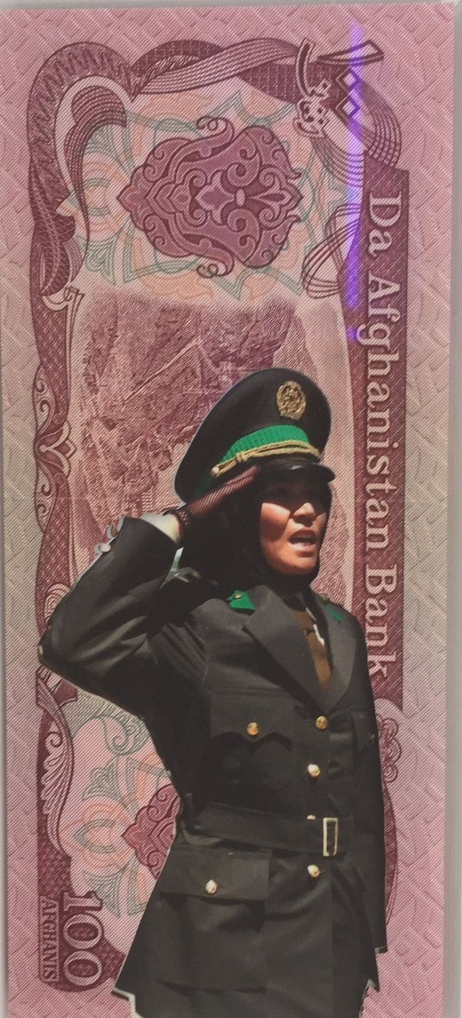 Carlos Aires (Spanish)  Detail of  Disasters II--VI,  2013 Digital print and bank note