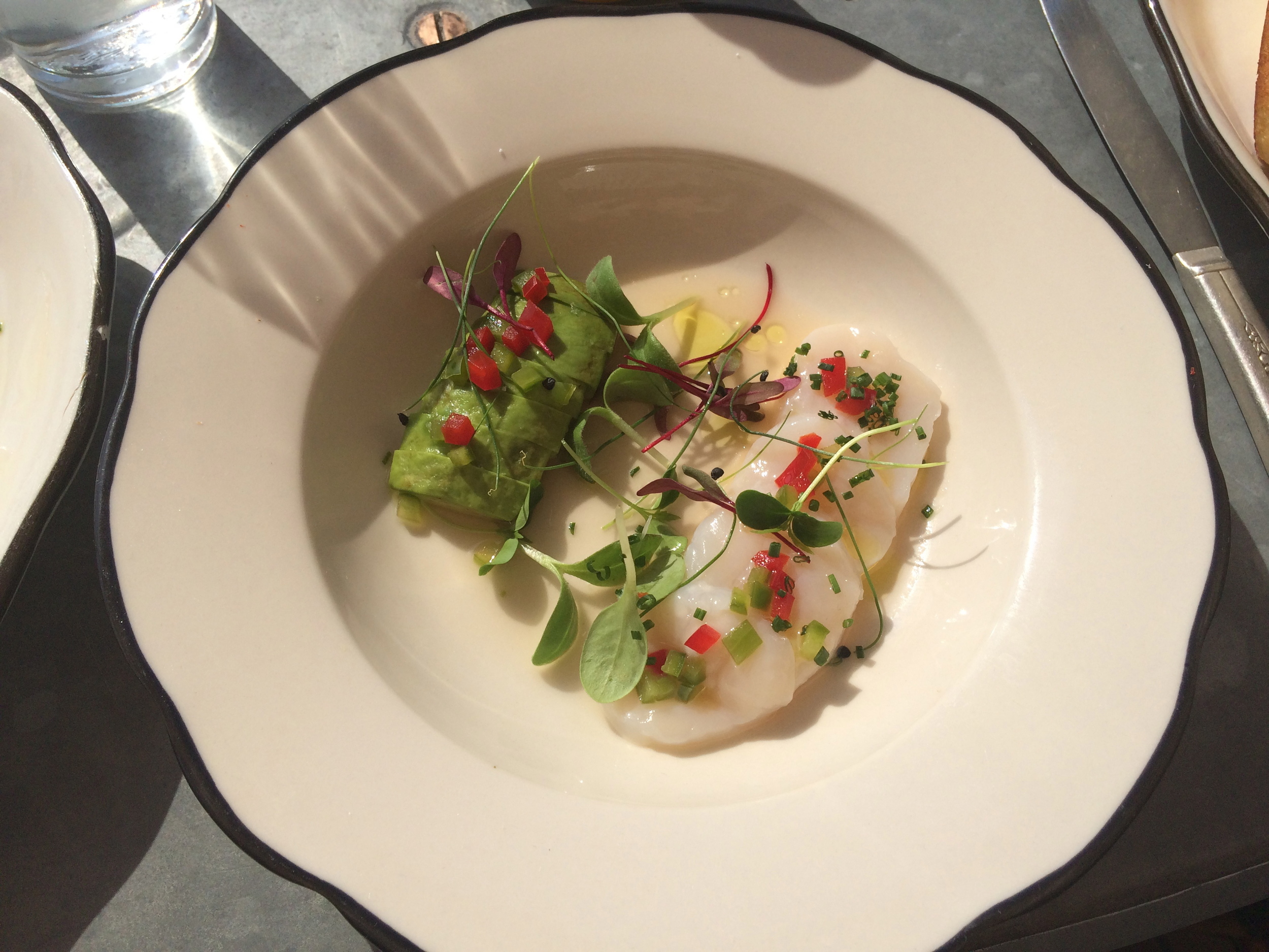 Scallop Ceviche with avocado and habanero is the perfect bright snack for a hot day.