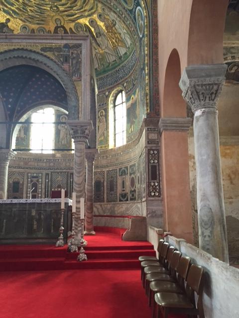 A viewof Euphrasian  Basilica's 6th century mosaics.