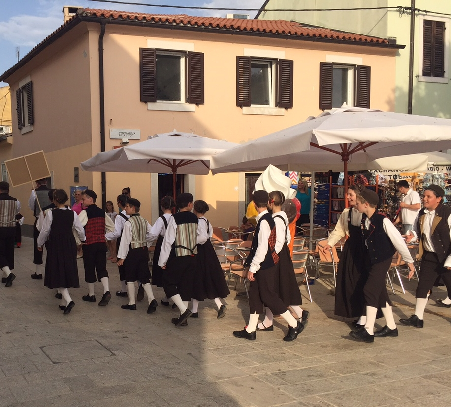We arrived in Fazana on the evening of a regional celebration of traditional dancing.