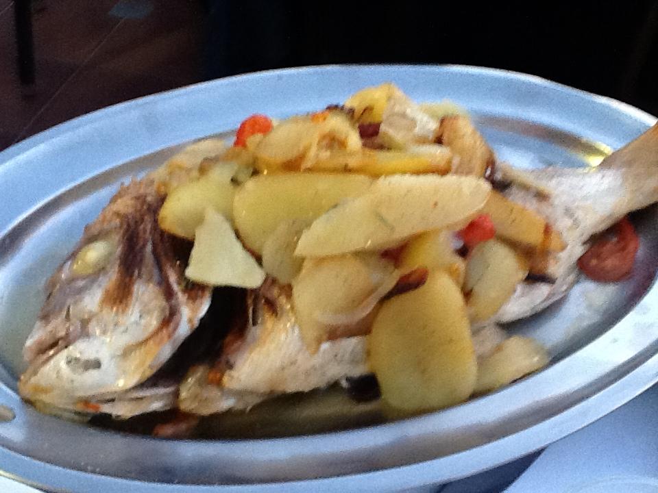 Catch of the day prepared at Ristorante Da Giacomino