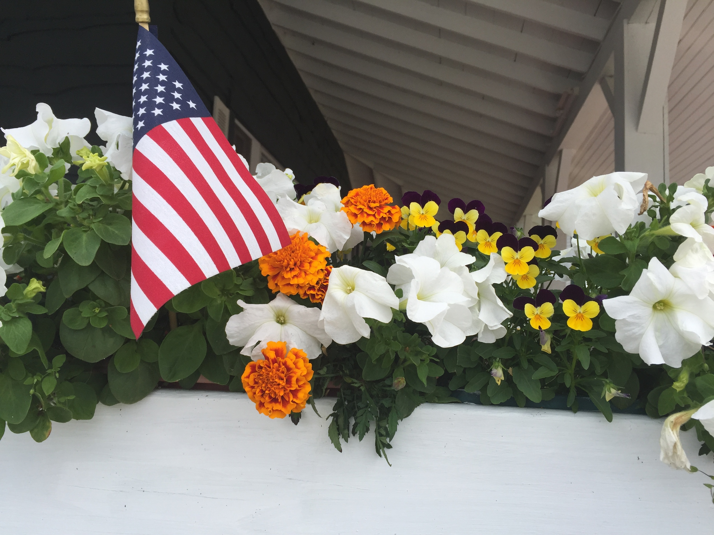 Flags and flowers, another of the many Adirondack traditions