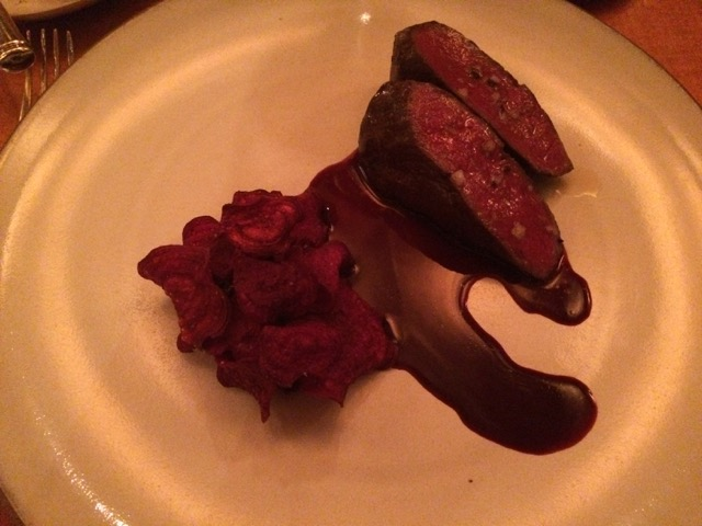 Slow-Roasted Venison with Beets and Onion