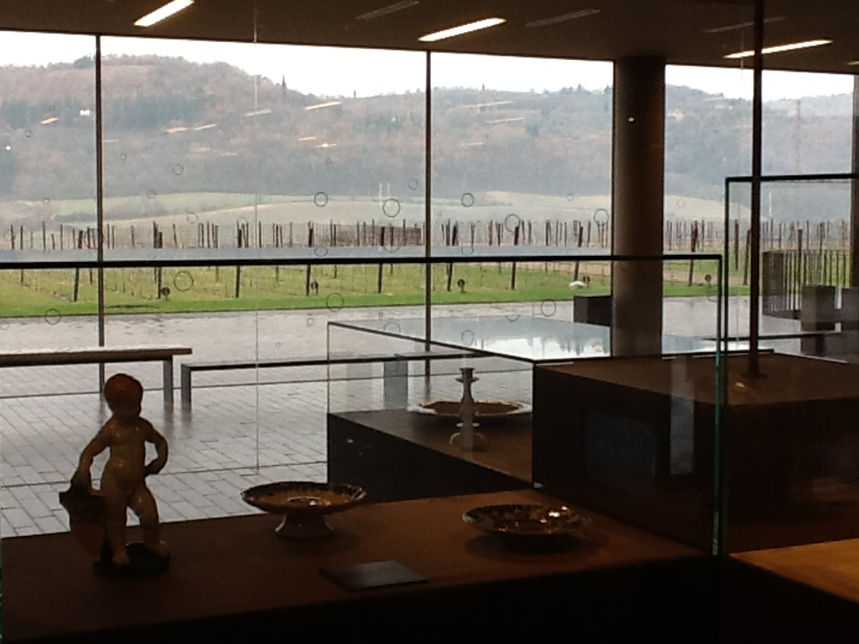 The artifacts room with a view of the valley.