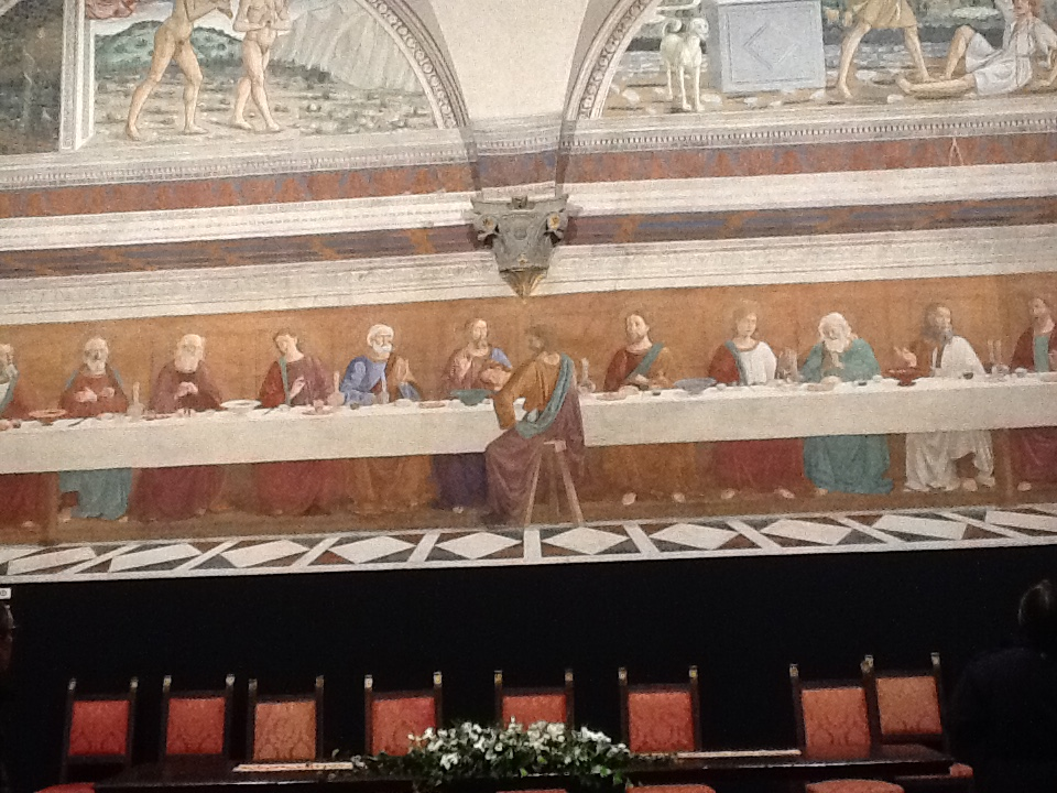 Ghirlandaio's  Last Supper  at La Badia a Passignano.