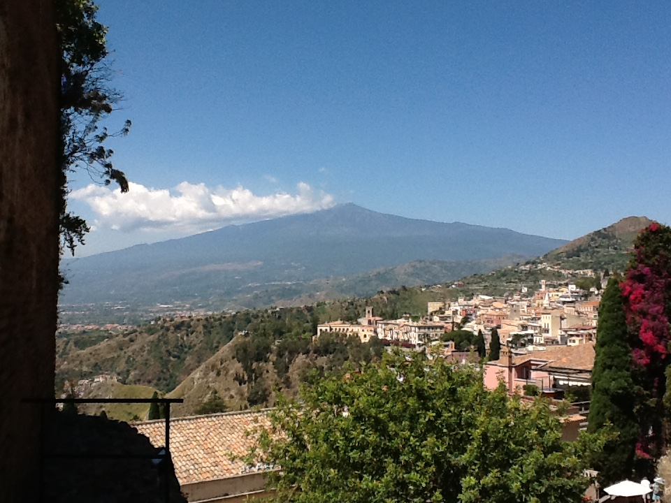 Mt. Etna in the distance.