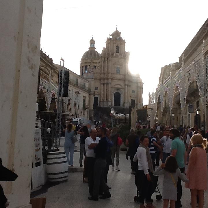 Ragusa's Duomo at Sunset.