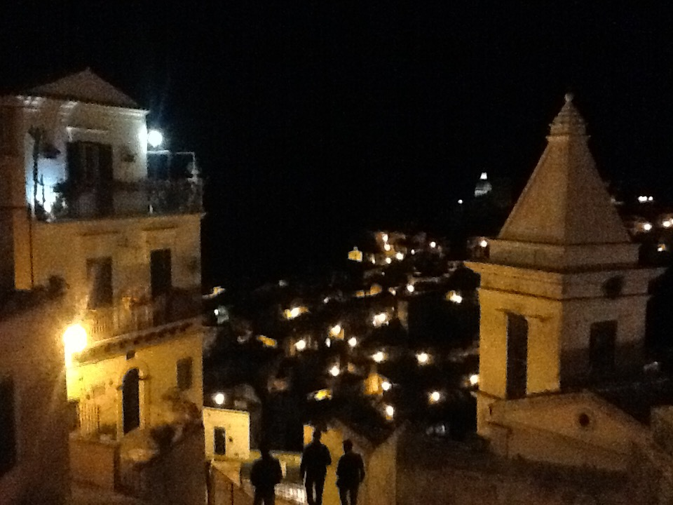 The view from Ibla at night.