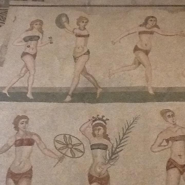 Exercising Beauties at Villa del Casale.