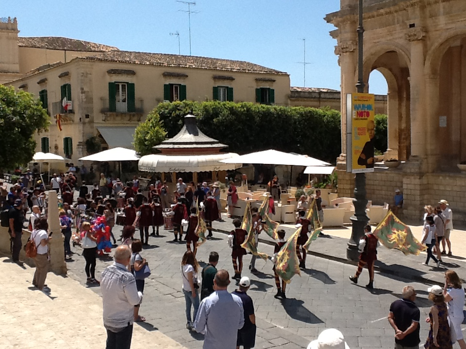 Downtown Parade in Noto.