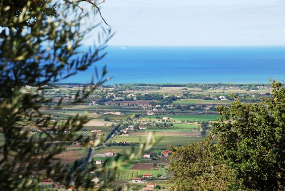 View of the Tyrrhenian sea from Capaccio, doorway to the Cilento National Park.