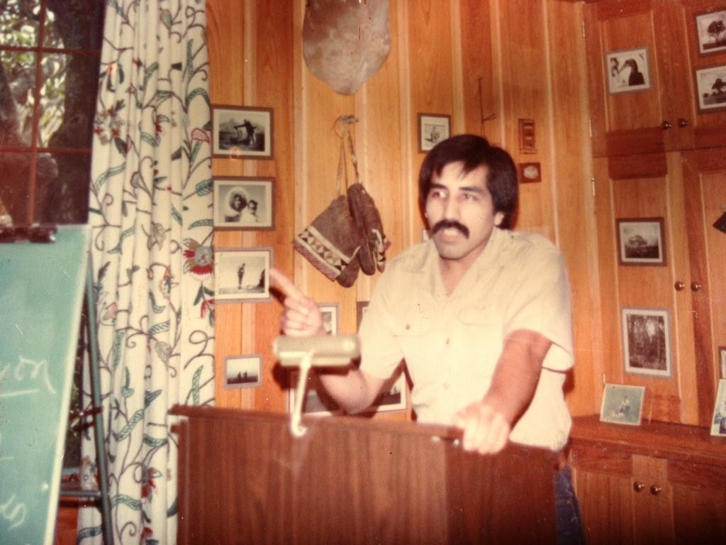 Conferenciando en The Wedge. 1983. Foto J. Guerrero