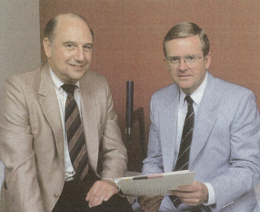 Philip C. Johnson, MD (on left) 15th President of the Chapter; pictured here with colleague Adrian LeBlanc, PhD