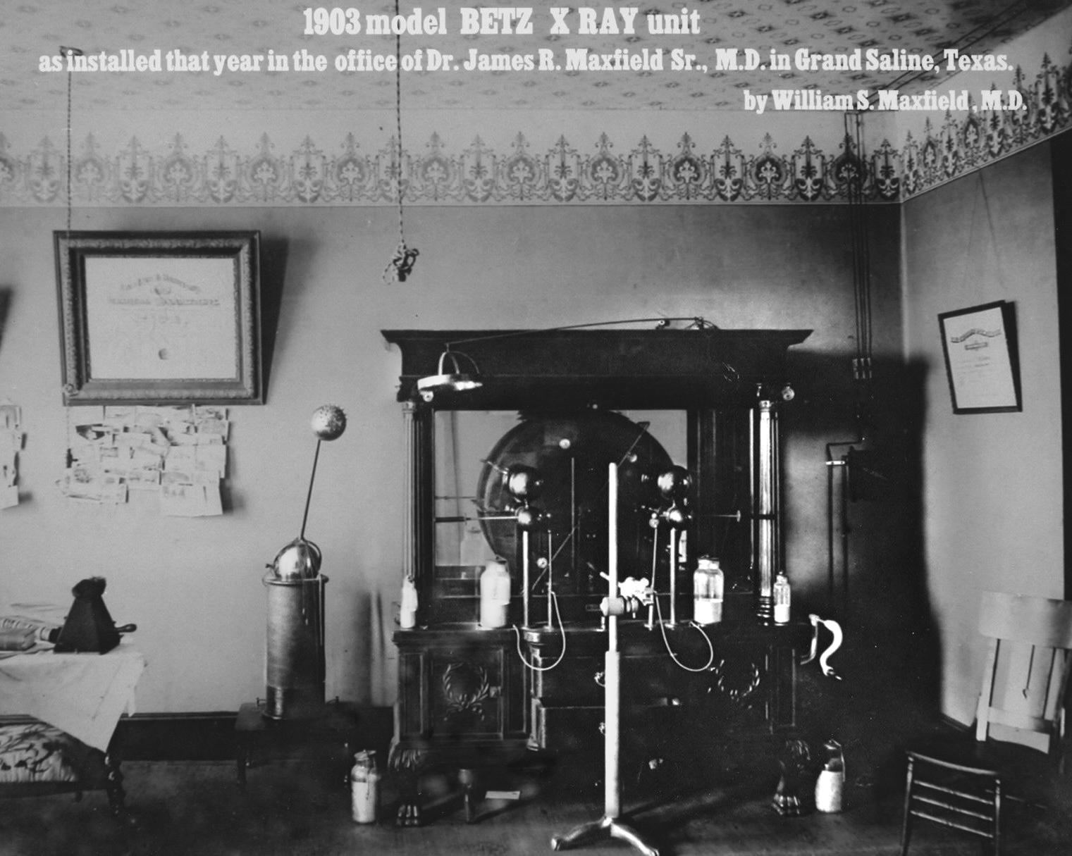 Beta x-ray unit, circa 1903