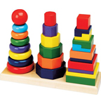 Melissa & Doug Geometric Stackers
