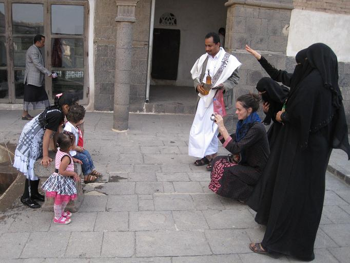 At Dar el Hajjar, this family (like many others) insisted that my friend take pictures of their children.