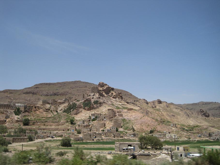 A village just outside of Sana'a.  (Click for bigger.)