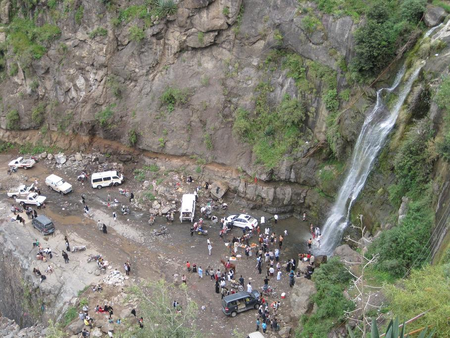 Waterfall near Ibb.  (Click for bigger.)