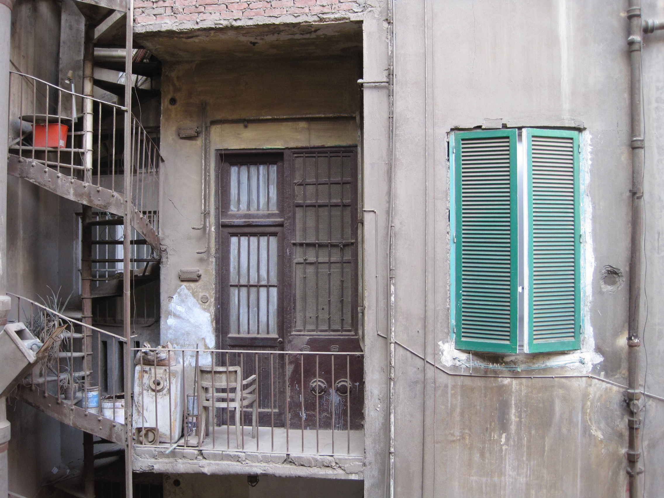 Balcony in an alley in Downtown Cairo.