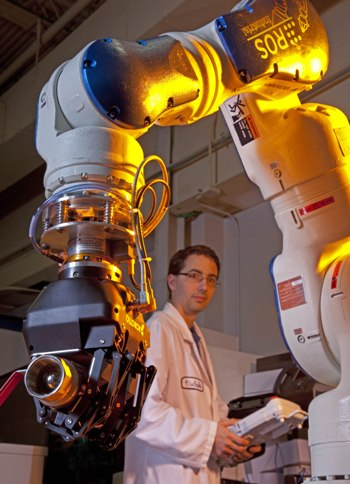 ROS-I Founder Shaun Edwards with an Early Industrial Robot Application