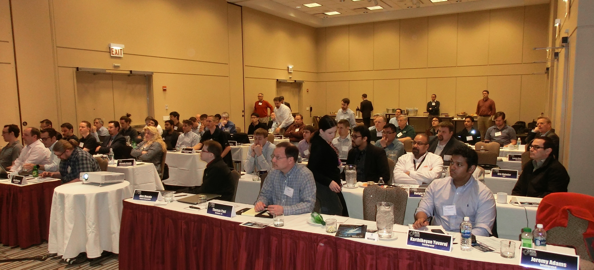 The ROS-I Consortium Americas meeting brought together representatives from across industry including end users, system integrators, robot OEMs, automation equipment OEMs, and researchers.