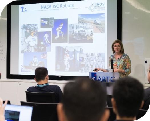 Dr. Kimberly hambuchen (NASA JSC) presented ROS use in NASA at Johnson space centre